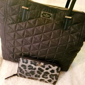 NEW ☆ Kate Spade ♤ Quilted Nylon Tote